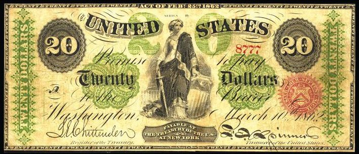 March 3rd 1863 $20 Bill Value | Sell Old Currency