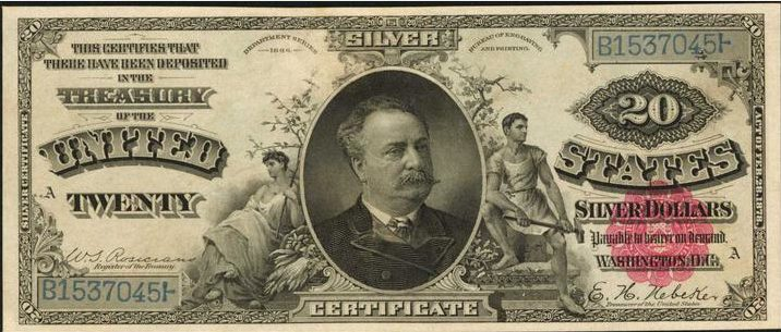 1886 $20 Silver Certificate Value | Sell Old Currency