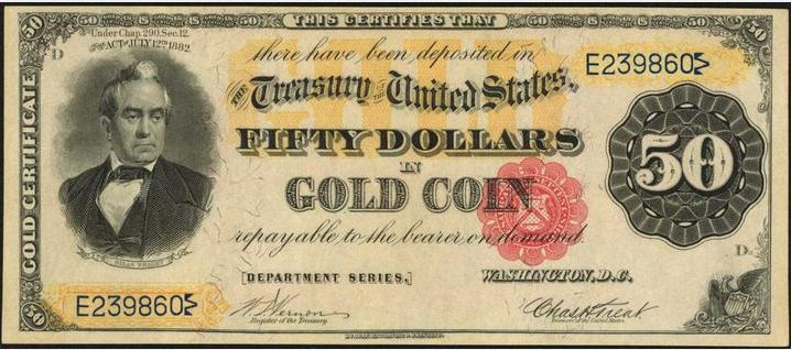 1882 $50 Gold Certificate Value | Sell Old Currency