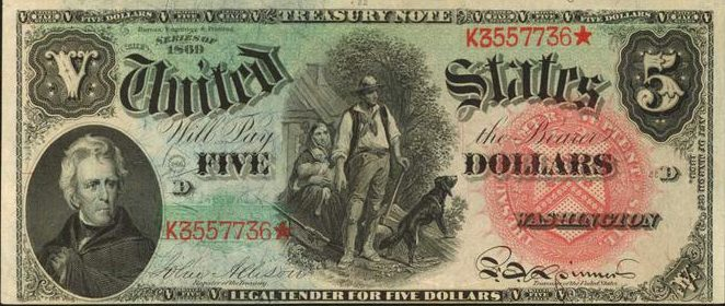 Five dollar bill with star in serial number | Star Note Values