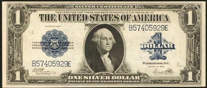Series of 1923 One Dollar Silver Certificate Value | Sell Old Currency