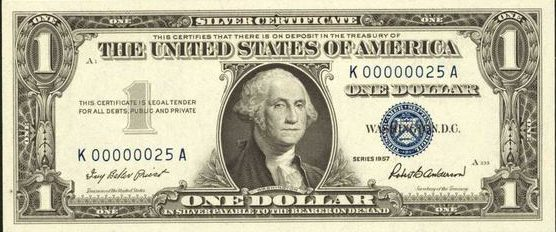 Series of 1957 $1 Silver Certificate – Values and Pricing | Sell Old ...
