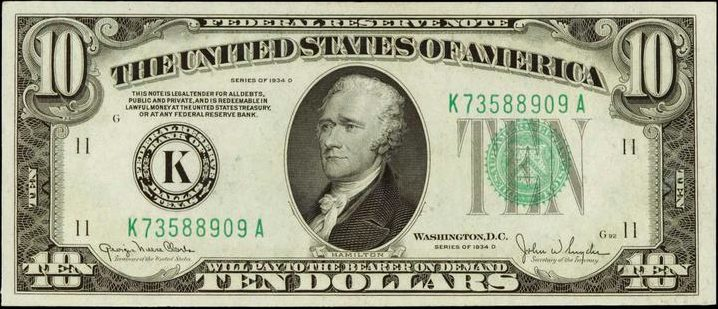 Old Ten Dollar Bill Value | Sell Old Currency