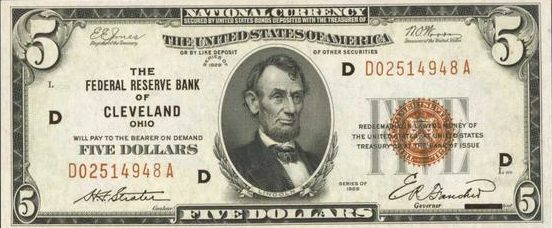 Old Five Dollar Bills - Values and Pricing | Sell Old Currency