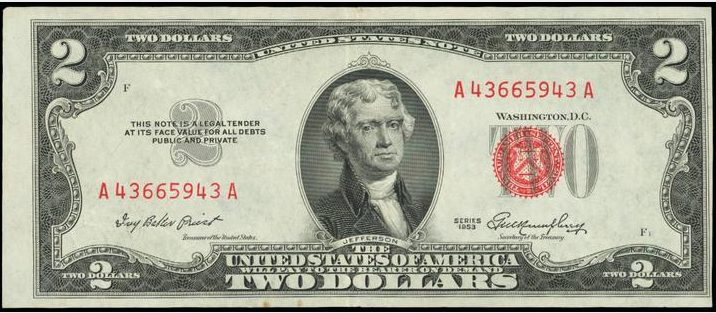 Red Seal Two Dollar Bills Unless You Have A Run Of Uncirculated Star Notes Or A Large Number Of Consecutive Notes We Will Also Buy 1953 Twos That A