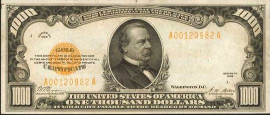 How Much Is a 1928 $1,000 Gold Certificate Worth? | Sell Old