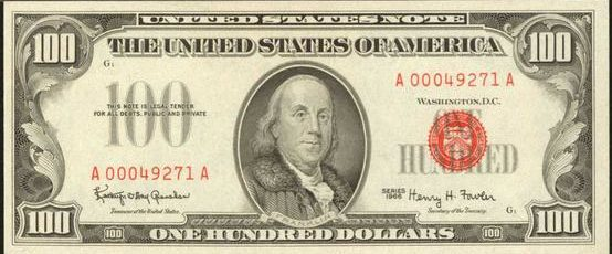 1966 $100 Bills With Red Serial Numbers | Sell Old Currency