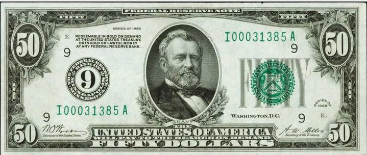 Old Fifty Dollar Bill Value | Sell Old Currency